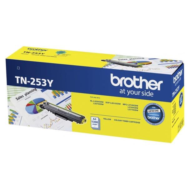 Image for Brother TN-253Y Yellow Toner Cartridge AusPCMarket