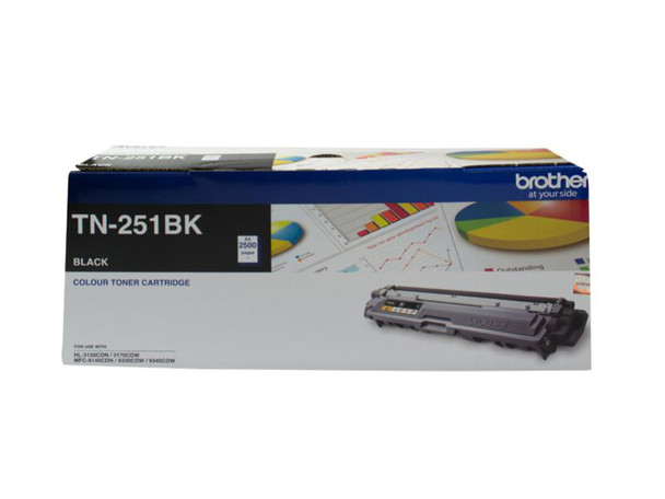 Image for Brother TN-251BK Black Toner Cartridge - Up to 2,500 Pages AusPCMarket