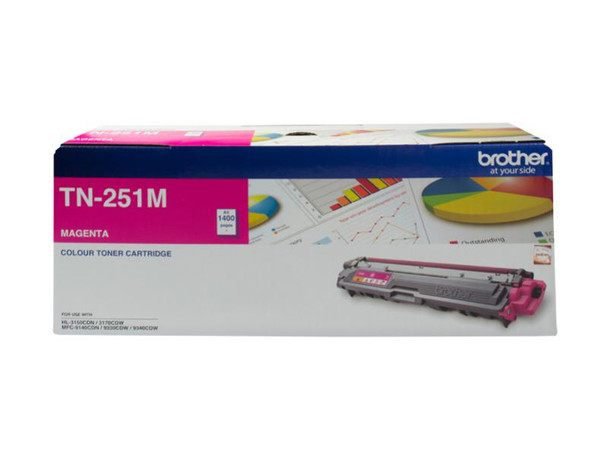Image for Brother TN-251M Magenta Toner Cartridge - Up to 1,400 Pages AusPCMarket
