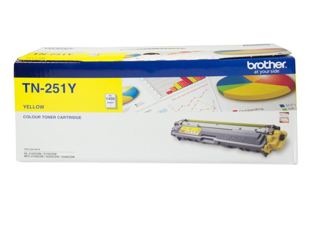 Image for Brother TN-251Y Yellow Toner Cartridge - Up to 1,400 Pages AusPCMarket