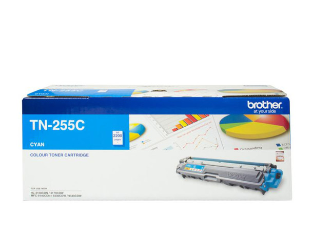 Image for Brother TN-255C High Yield Cyan Toner - Up to 2,200 Pages AusPCMarket
