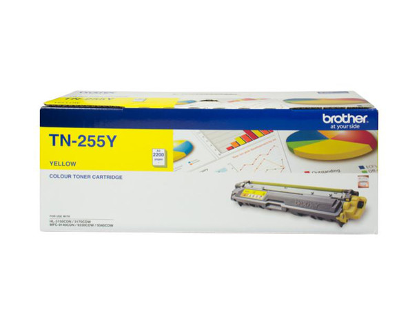 Image for Brother TN-255Y High Yield Yellow Toner - Up to 2,200 Pages AusPCMarket