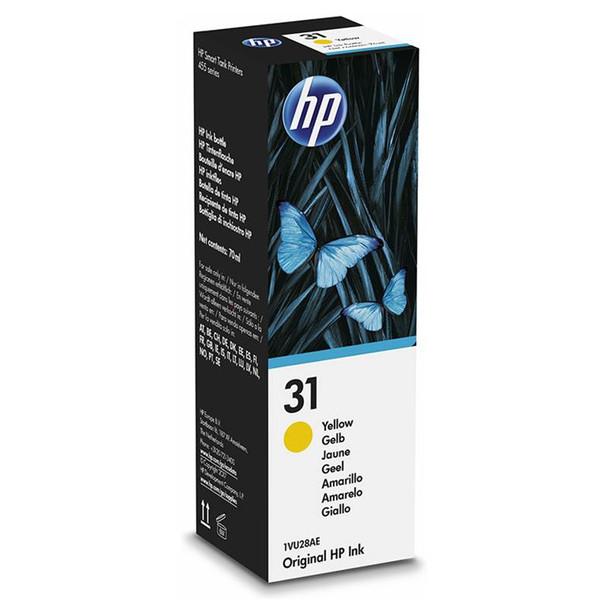 Image for HP31 70ML Original Ink Bottle - Yellow (1VU28AA) AusPCMarket