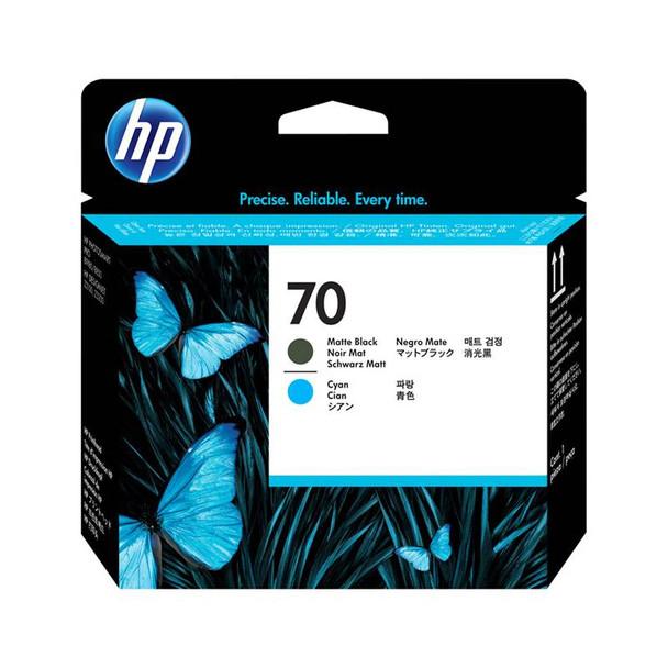 Image for HP 70 130ml Matte Black & Cyan Printhead (C9404A) AusPCMarket