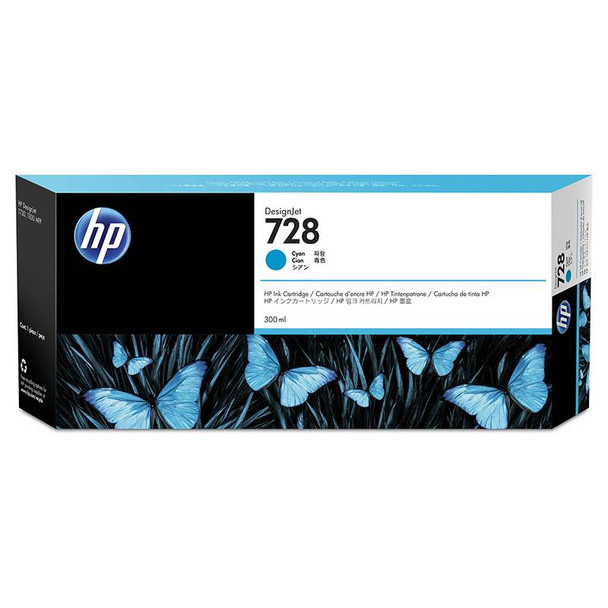 Image for HP728 300ML DesignJet Ink Cartridge - Cyan (F9K17A) AusPCMarket