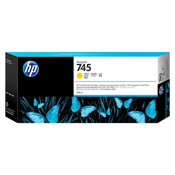 Image for HP745 300ML Ink Cartridge - Yellow (F9K02A) AusPCMarket