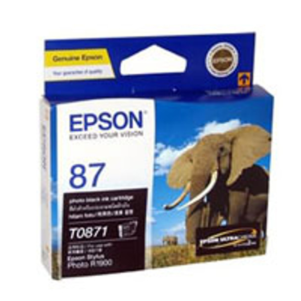 Image for Epson 87 - UltraChrome Hi-Gloss2 - Photo Black Ink Cartridge 5,630 pages AusPCMarket
