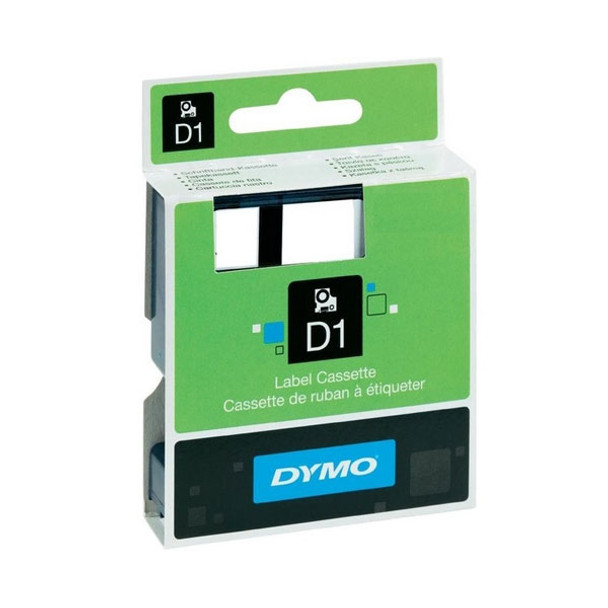 Image for Dymo Wht on Blk 12mmx7m Tape 12mm x 7m AusPCMarket