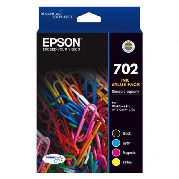 Image for Epson 702 Standard Capacity DURABrite Ultra CMYK Ink Cartridge Pack AusPCMarket