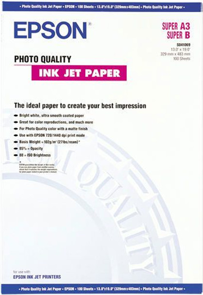 Image for Epson Photo Quality Inkjet Paper Super A3 (S041069) AusPCMarket