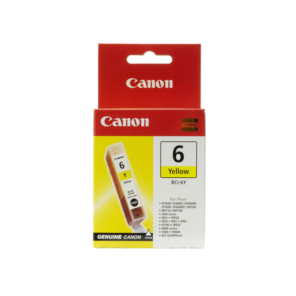 Image for Canon BCI6Y Yellow Ink Tank 100 pages Yellow AusPCMarket