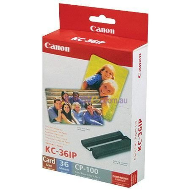 Image for Canon KC36IP Card Full Size Paper & Ink Pack 36 Sheets AusPCMarket