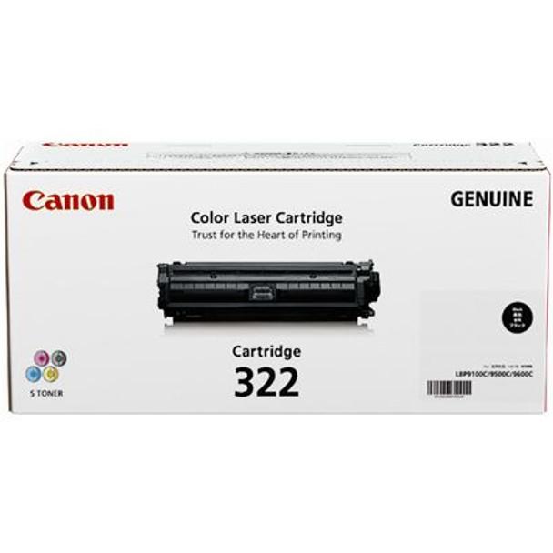 Image for Canon 322BK Toner cartridge 1 x black 6500 pages AusPCMarket