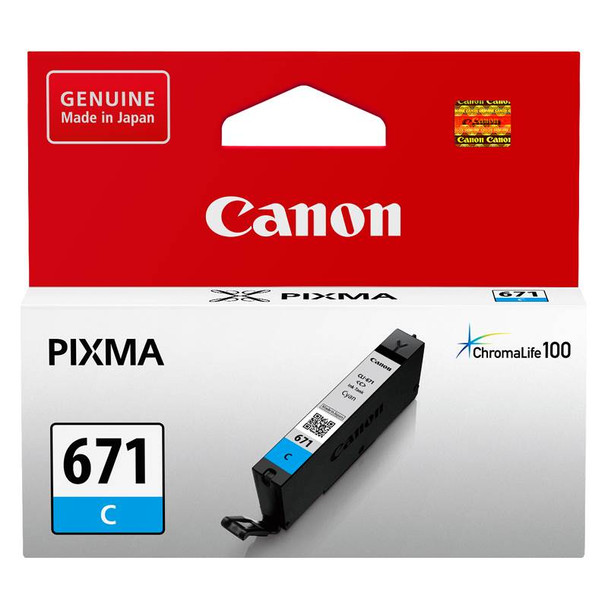 Image for Canon CLI-671C Cyan Ink Cartridge Up To 306 pages AusPCMarket