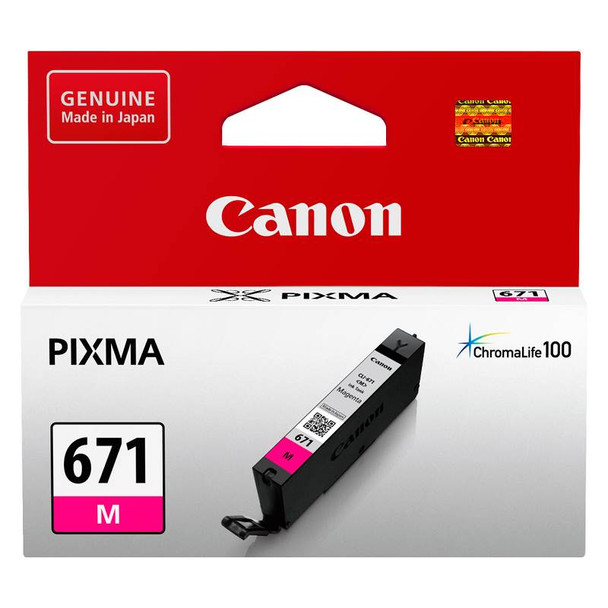 Image for Canon CLI-671M Magenta Ink Cartridge Up To 306 pages AusPCMarket