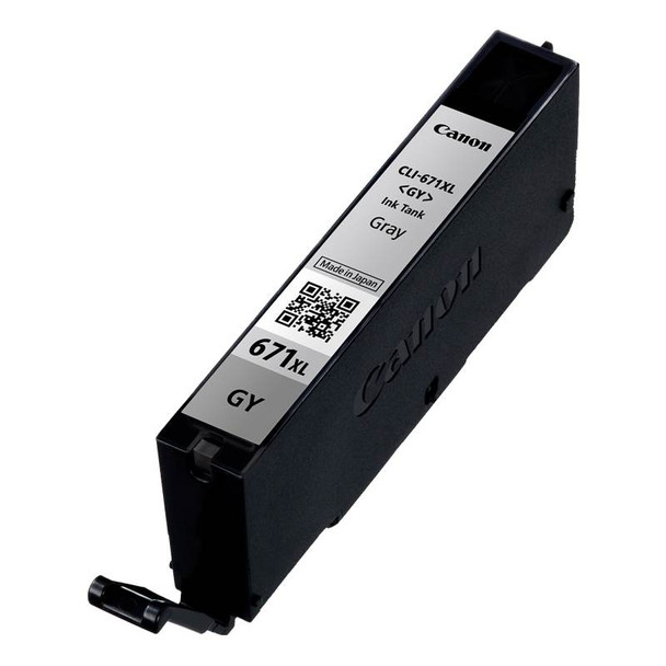 Canon CLI-671XLGY High Capacity Grey Ink Cartridge Product Image 2