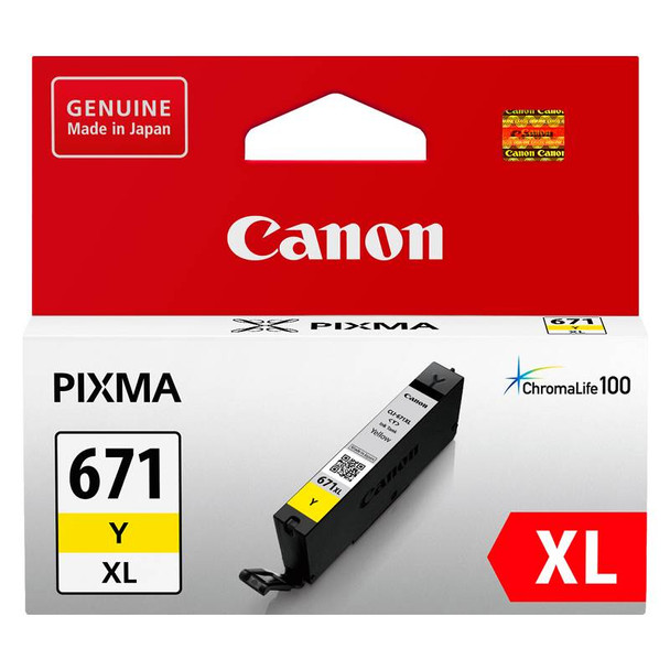 Image for Canon CLI-671XLY High Capacity Yellow Ink Cartridge Up To 715 pages AusPCMarket