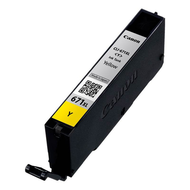 Canon CLI-671XLY High Capacity Yellow Ink Cartridge Up To 715 pages Product Image 2