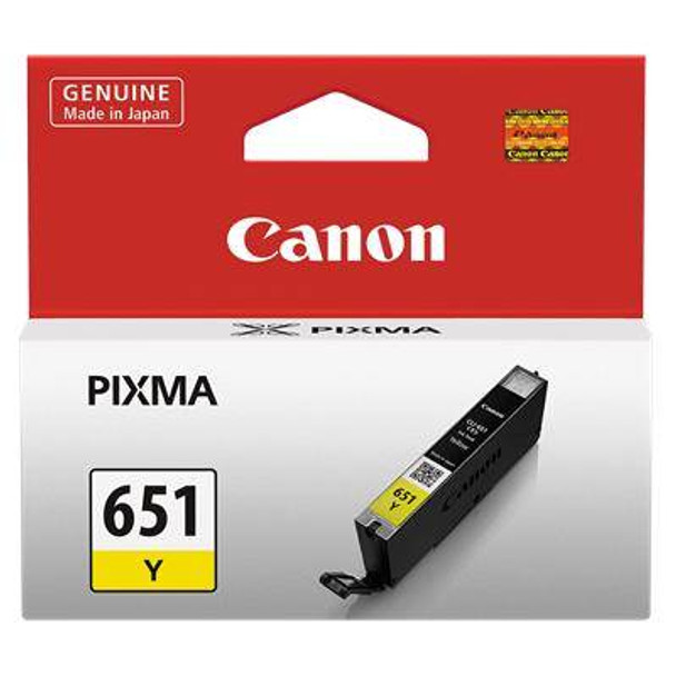 Image for Canon CLI651 Yellow Ink Cart 344 A4 pages (ISO/IEC 24711) Yellow AusPCMarket