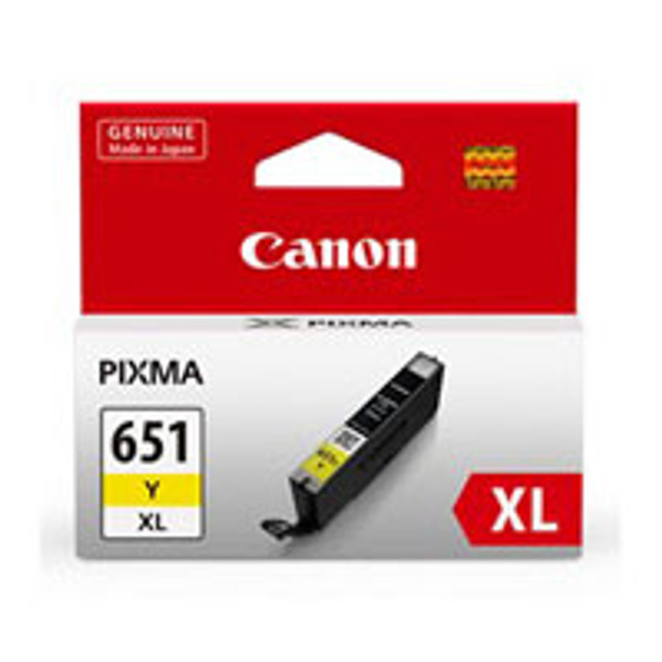 Image for Canon CLI651XL Yellow Ink Cart 695 A4 Pages (ISO/IEC 24711) Yellow AusPCMarket