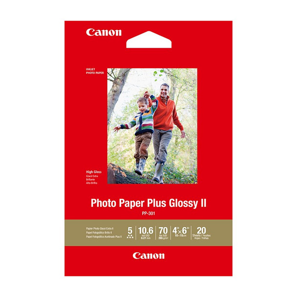 Image for Canon Photo Paper Plus Glossy II 4inx6in - 20 Sheets AusPCMarket
