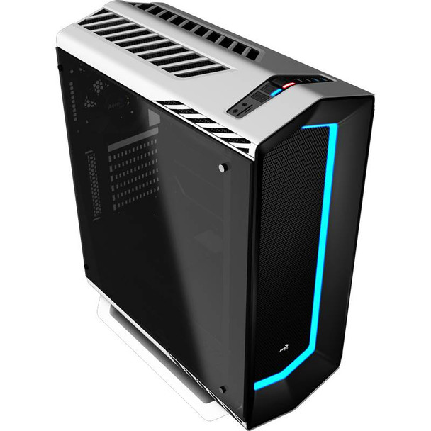 Image for Aerocool Project7 P7-C1 ATX Tempered Glass Mid-Tower Case - White AusPCMarket
