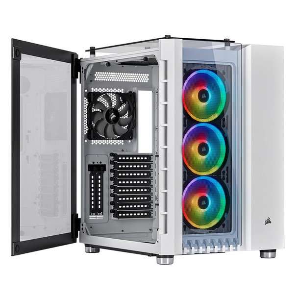 Corsair Crystal 680X Smart RGB Tempered Glass Mid-Tower E-ATX Case - White Product Image 9