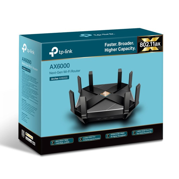 TP-Link Archer AX6000 802.11ax Next-Gen Wi-Fi Router Product Image 4