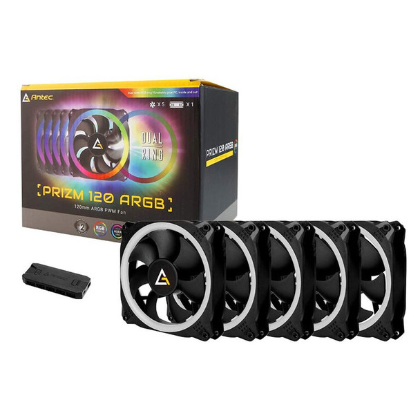 Antec Prizm 120 ARGB 5+C PWM Case Fan - 5 Pack with Controller Product Image 4