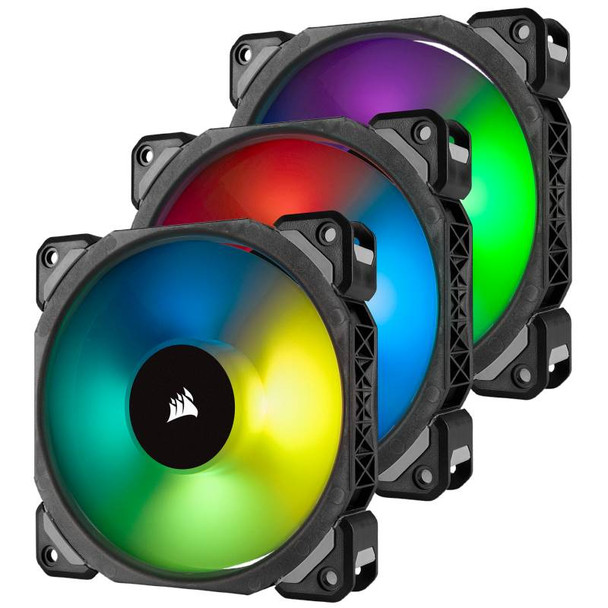 Image for Corsair ML120 PRO RGB LED 120mm Magnetic Levitation Fan - 3 Pack with Controller AusPCMarket