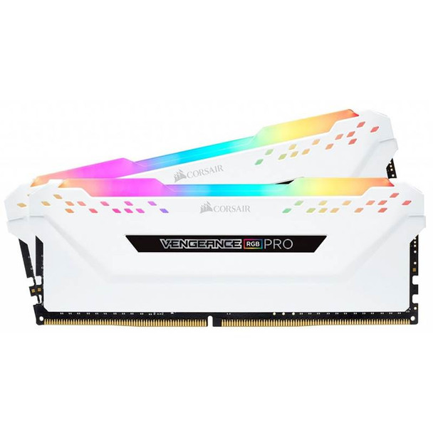 Image for Corsair Vengeance RGB PRO 16GB (2x 8GB) DDR4 2666MHz Memory - White AusPCMarket