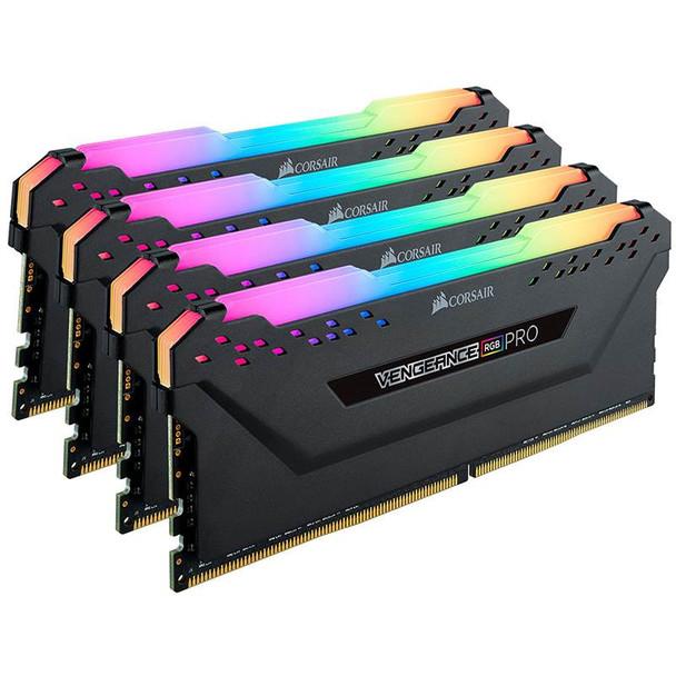 Corsair Vengeance RGB PRO 32GB (4x 8GB) DDR4 3200MHz Memory - Black Product Image 3