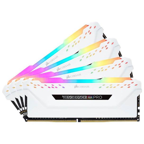 Image for Corsair Vengeance RGB PRO 32GB (4x 8GB) DDR4 3200MHz Memory - White AusPCMarket