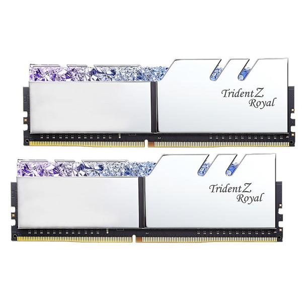 G.Skill Trident Z Royal RGB 16GB (2x 8GB) DDR4 CL16 3000MHz Memory - Silver Product Image 2