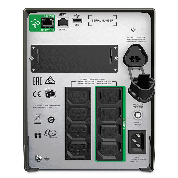 APC SMT1500IC Smart-UPS 1500VA LCD 230V with SmartConnect Product Image 2