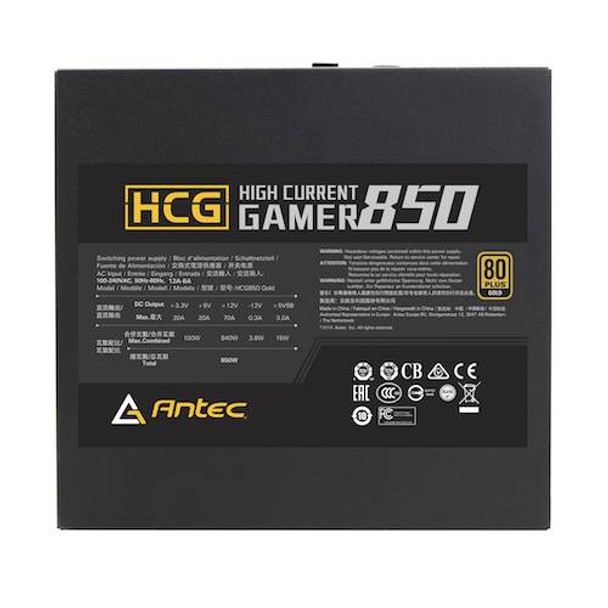 Antec High Current Gamer HCG850 80+ Gold 850W Fully Modular Power Supply Product Image 4