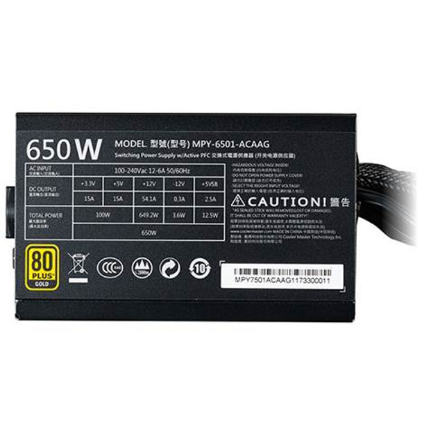 Cooler Master MWE 650W Gold Power Supply Product Image 3