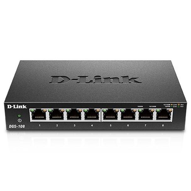 D-Link DGS-108 8-Port Gigabit Desktop Switch (Metal Housing) Product Image 3