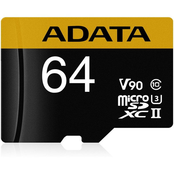 Image for Adata 64GB Premier ONE microSDXC UHS-II Memory Card with SD Adaptor - 275MB/s AusPCMarket