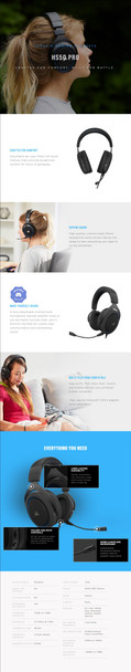 Corsair HS50 PRO Stereo Gaming Headset - Carbon Product Image 6