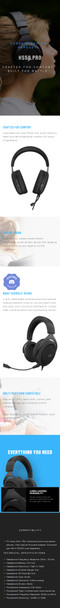 Corsair HS50 PRO Stereo Gaming Headset - Carbon Product Image 7