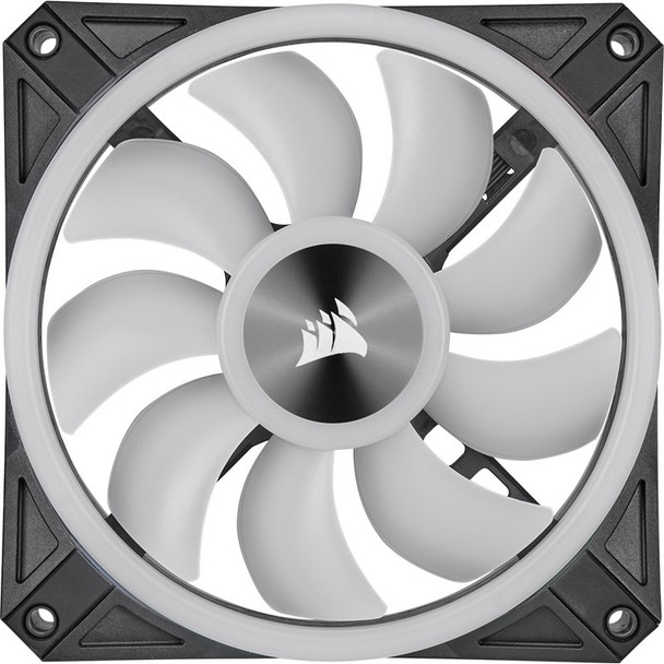 Corsair iCUE QL120 RGB 120mm PWM Fan - Three Pack with Lighting Node CORE Product Image 4