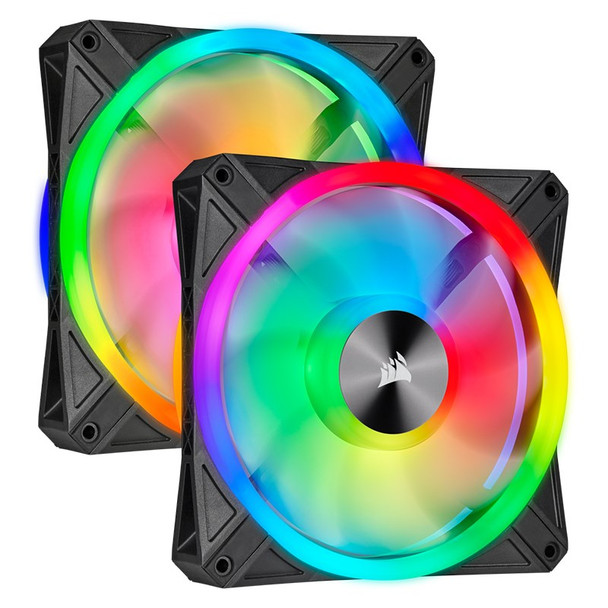 Image for Corsair iCUE QL140 RGB 140mm PWM Fan - Dual Pack with Lighting Node CORE AusPCMarket