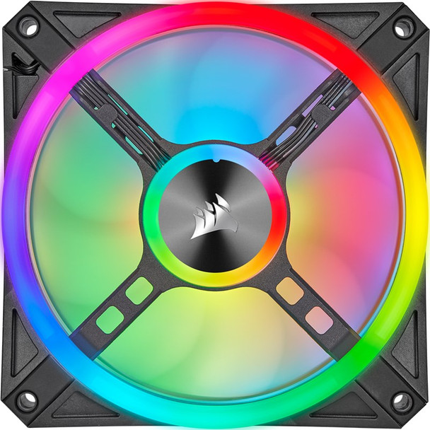 Corsair iCUE QL140 RGB 140mm PWM Fan - Dual Pack with Lighting Node CORE Product Image 3