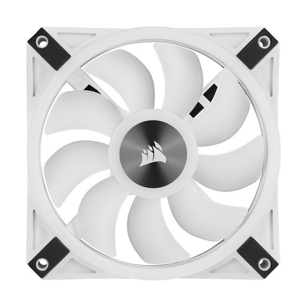 Corsair iCUE QL120 RGB White 120mm PWM Fan - Three Pack with Lighting Node CORE Product Image 3