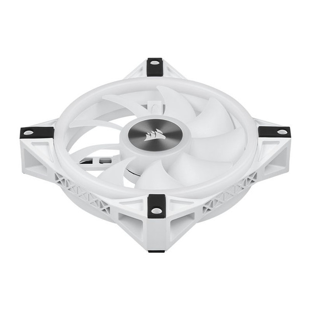 Corsair iCUE QL120 RGB White 120mm PWM Fan - Three Pack with Lighting Node CORE Product Image 7