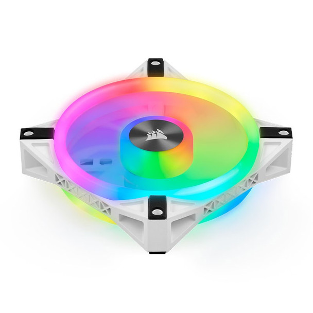 Corsair iCUE QL120 RGB White 120mm PWM Fan - Three Pack with Lighting Node CORE Product Image 8