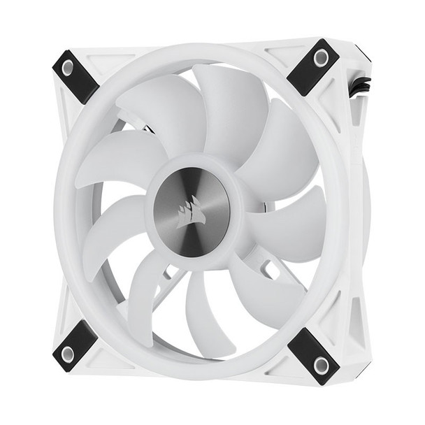 Corsair iCUE QL120 RGB White 120mm PWM Fan - Three Pack with Lighting Node CORE Product Image 10