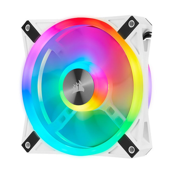 Corsair iCUE QL120 RGB White 120mm PWM Fan - Three Pack with Lighting Node CORE Product Image 13