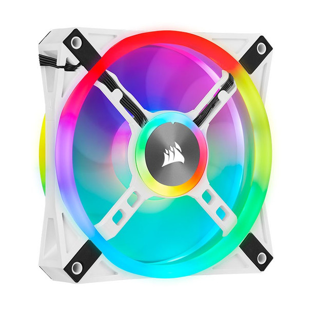Corsair iCUE QL120 RGB White 120mm PWM Fan - Three Pack with Lighting Node CORE Product Image 16